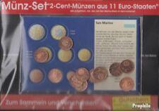 Europa 2 Cent Euro-Munten uit 11 verschillende Landen Postzegels-11 verschillend