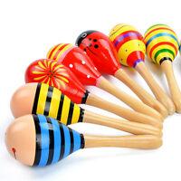Baby Kinder Holzspielzeug Lernspielzeug Rassel Musik Bildung Maraca Spielze U9T4