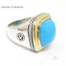 NYJEWEL David Yurman Sterling Silver 18k Turquoise Albion Ring