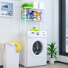 2 Layer Washing Machine Rack Over The Toilet Bathroom Storage Shelf Organizer