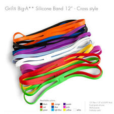 "Grifiti Big-Ass Bands X Cross Style 12"" 10 Pack Silicone Replace Rubber Elastic"