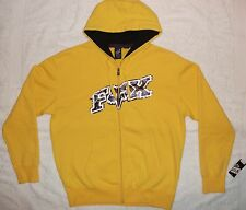 FOX 'UP AGAINST' ZIP FRONT HOODIE JUMPER & BONUS BELT SIZE MEDIUM