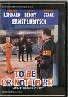 DVD ZONE 2--TO BE OR NOT TO BE--LUBITSCH/LOMBARD/BENNY/STACK