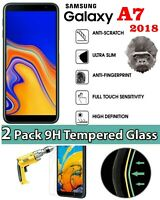 2 PACK GORILLA TEMPERED GLASS FILM SCREEN PROTECTOR FOR SAMSUNG GALAXY A7 2018