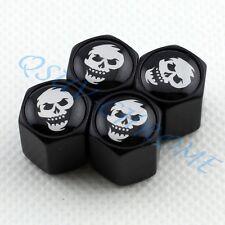 Car Wheel Tire Valve Stem Air Caps Cover BLACK Caribbean Pirate Skull Head