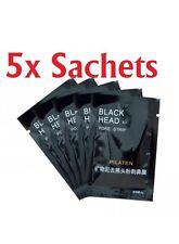 5X Black Head Removal Nose Mask Peel Off Black Head Acne Treatment +Nose Brush