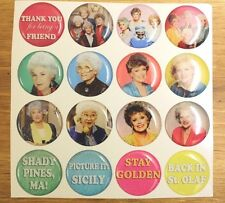 GOLDEN GIRLS Epoxy Sticker 1 inch round 4 Bottle Cap Magnet Craft Project