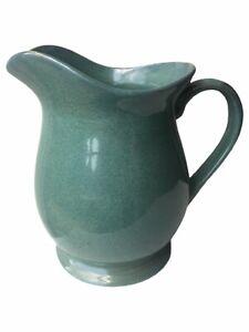 Vintage Pitcher Farmhouse Shabby Chic style Large Green pitcher / vase