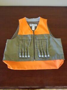 Mens Columbia Sportswear Hunting Vest Bird Orange Olive Taupe Safety XL NWOT