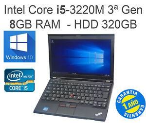 "Portátil LENOVO ThinkPad X230 12.5""  Core i5-3320M  RAM 8GB  HDD 320GB"