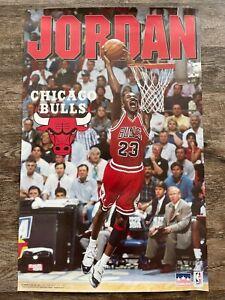 1995 Starline Michael Jordan Chicago Bulls Slam Dunk Original Poster 24.5 x 34.5
