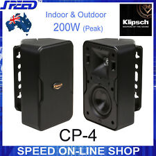 Klipsch CP-4 200W Indoor & Outdoor Speakers - Pair (Black)