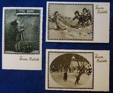 Lot 3 Postcard Merry Christmas-Kids Years'30-intonse