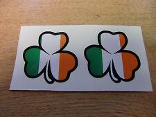 2x Irlandese Shamrock Adesivo Decalcomania - 50mm-bandiera irlandese COLORI