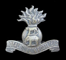 WW1 THE ROYAL DUBLIN FUSILIERS BADGE OFFICERS SILVER
