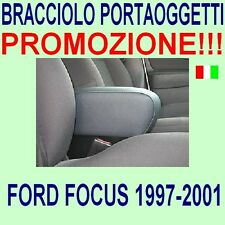 Apoyabrazos el reposabrazos central referencia de cuero negro//blanco para ford focus 1 1998-2001