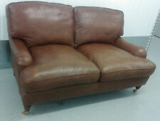 Laura Ashley Leather Armchairs