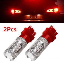 2Pcs Pure Red 3157 80W LED Tail Brake Stop Turn Signal Reverse Backup Light Bulb