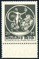 DR 1920, MiNr. 138 III, tadellos postfrisch, Fotobefund Weinbuch, Mi. 400,-