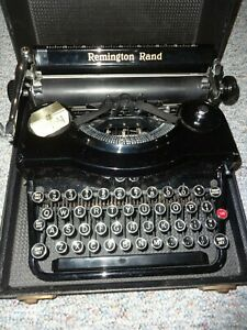 Antique Remington Rand Model 1 Portable Typewriter With Case