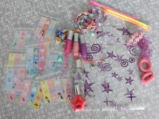 GIRLS 10 PARTY BAGS PREFILLED 8 ITEMS LIPGLOSS BRACELET NAIL POLISH  89p PER BAG
