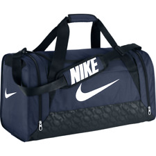 Nike Brasilia 6 Travel Duffel Gym Bag NAVY BLUE BLACK BA4829-401 M 3784 CUIN