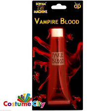 HALLOWEEN FANCY DRESS 1oz ROSSO TUBO ARTIFICIALI FINTI Prop VAMPIRO sangue