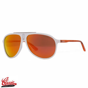 Carrera 6015/S N7P UZ Polished white Frame with Red Mirror Lens Mens Sunglasses