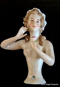 Antique Half Doll, Germany Half Doll, Pincushion Doll, Sitzendorfer