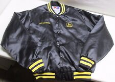 Vintage Swingster Mens Jacket M Medium John Deere Ison Equipment Nylon USA Shiny