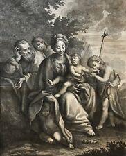 Sainte famille avec Saint Jean et anges Antonio Lorenzini Bartolomeo Schedoni