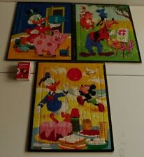 3 x John Sands Walt Disney 30 Piece Puzzles.