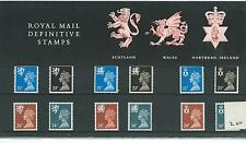 GB - PRESENTATION PACK - PACK NO 20 - MACHIN DEFINITIVES - REGIONALS -  to 34p