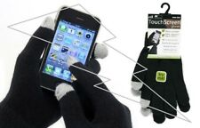One Size Adult Men's Women's Stretch Black Touch Screen Phone Pads Winter Gloves