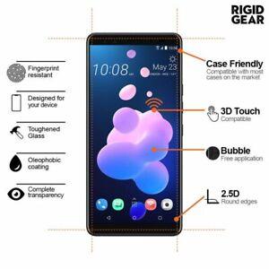 HTC U12+ U12 Life 2.5D 9H Tempered Gorilla Glass Screen Protector Case Friendly