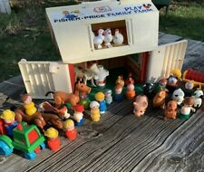 Vintage Fisher Price Play Family Farm Little People Tractor Toys Animals 1967