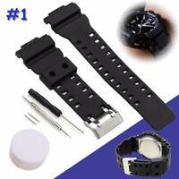 Watch Strap Band & Pins For Casio G Shock 16mm GA-100 G-8900 GW-8900 🔥