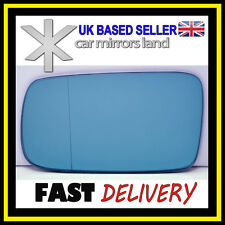 Left Passenger Wing Mirror Glass BLUE Wide Angle BMW 3 E46 COMPACT 98-05