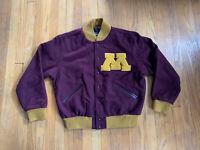 Minnesota Golden Gophers Rennoc Classic Wool Varsity Jacket Mens Large EUC Rare