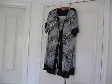Ladies Long Jacket Design Avocado Plus Size 16  Colour Black & White Polyester