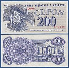 MOLDAWIEN / MOLDOVA 200 Cupon 1992  UNC  P.2