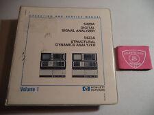 Hp 5420A Digital Signal Analyzer 5423A Struct Dyn Operating And Service Manual
