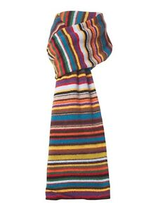 PAUL SMITH Signature Multi Stripe Wool Cashmere Scarf Muffler Winter