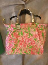 NWT Lilly Pulitzer GWP Overnight Bag Hotly Pink Biggest Fan Free Shipping