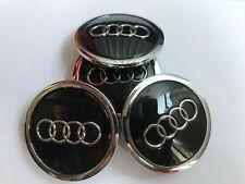 4 Stück Audi Schwarz Nabendeckel  Felgendeckel 69mm für A3 A4 A6 A8 4B0601170A