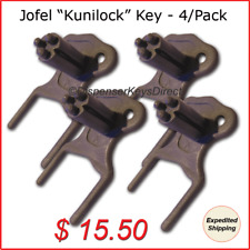 "Jofel ""Kunilock"" Dispenser Key for Paper Towel &Toilet Tissue Dispensers (4/pk.)"