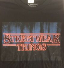 Streetwear Things Large Black Short Sleeve T Shirt New With Tags Stranger Things