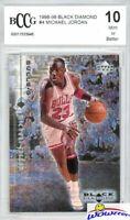 1998/99 Upper Deck Black Diamond #4 Michael Jordan BECKETT 10 MINT Bulls HOF