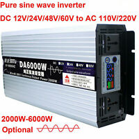 Intelligent Pure Sine Wave Inverter DC12V24V48V60V to AC110/220V 2000W-6000W Max