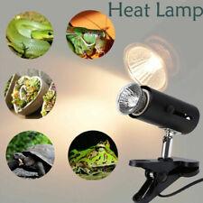 Reptile Lizard Tortoise Heat UVA UVB Lamp Light Holder with Lamp Bulb US Plug